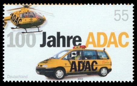 55 Ct Briefmarke: 100 Jahre ADAC
