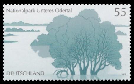 55 Ct Briefmarke: Nationalpark Unteres Odertal