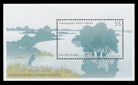 Briefmarke: Blockausgabe: Nationalpark Unteres Odertal