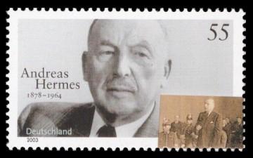 55 Ct Briefmarke: 125. Geburtstag Andreas Hermes