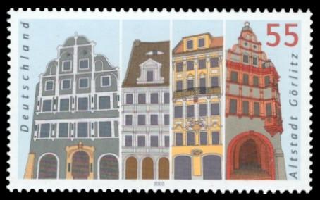55 Ct Briefmarke: Altstadt Görlitz