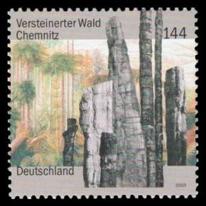144 Ct Briefmarke: Versteinerter Wald Chemnitz
