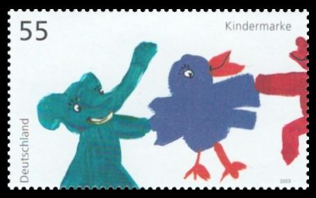 55 Ct Briefmarke: Für uns Kinder 2003