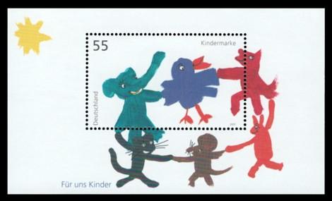 Briefmarke: Blockausgabe: Für uns Kinder 2003