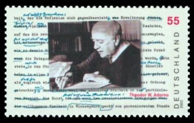 55 Ct Briefmarke: 100. Geburtstag Theodor W. Adorno