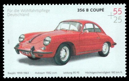 55 + 25 Ct Briefmarke: Wohlfahrtsmarke 2003, Automobile