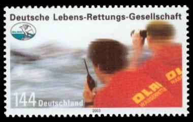 144 Ct Briefmarke: Deutsche Lebens-Rettungs-Gesellschaft