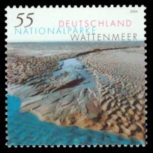 55 Ct Briefmarke: Nationalparke, Wattenmeer