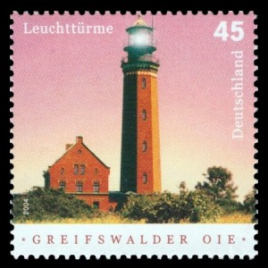 45 Ct Briefmarke: Leuchttürme, Greifswalder Oie