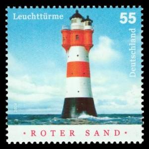 55 Ct Briefmarke: Leuchttürme, Roter Sand