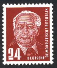24 Pf Briefmarke: Präsident Wilhelm Pieck, Freimarke