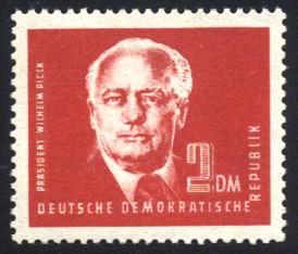 2 DM Briefmarke: Präsident Wilhelm Pieck, Freimarke
