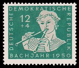 12 + 4 Pf Briefmarke: Bachjahr 1950, Knabe