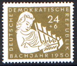 24 + 6 Pf Briefmarke: Bachjahr 1950, Mädchen