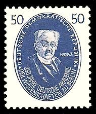 50 Pf Briefmarke: 250 Jahre Deutsche Akademie der Wissenschaften zu Berlin, Harnack