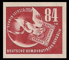 84 + 41 Pf Briefmarke: Deutsche Briefmarkenausstellung DEBRIA in Leipzig