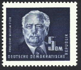 5 DM Briefmarke: Präsident Wilhelm Pieck, Freimarke