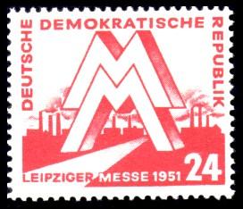 24 Pf Briefmarke: Leipziger Messe 1951