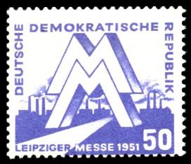 50 Pf Briefmarke: Leipziger Messe 1951