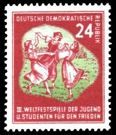 24 Pf Briefmarke: III. Weltfestival der Jugend und Studenten für den Frieden