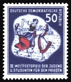 50 Pf Briefmarke: III. Weltfestival der Jugend und Studenten für den Frieden