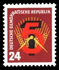 24 Pf Briefmarke: Erster Fünfjahresplan