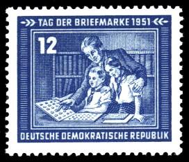 12 Pf Briefmarke: Tag der Briefmarke 1951
