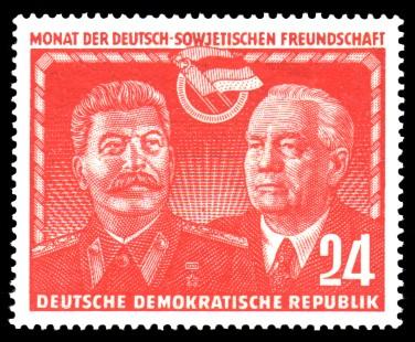 24 Pf Briefmarke: Monat der Deutsch-Sowjetischen Freundschaft