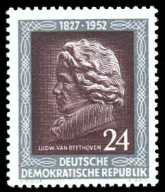 24 Pf Briefmarke: 125. Todestag von Ludwig van Beethoven
