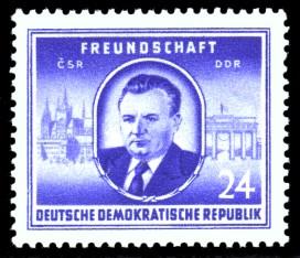 24 Pf Briefmarke: Freundschaft CSR DDR