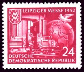 24 Pf Briefmarke: Leipziger Messe 1952