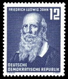 12 Pf Briefmarke: 100.Todestag von Friedrich Ludwig Jahn