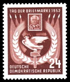 24 Pf Briefmarke: Tag der Briefmarke 1952