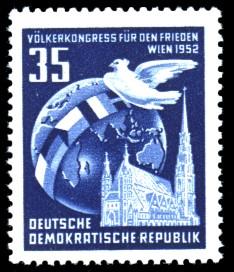 35 Pf Briefmarke: Völkerkongress für den Frieden in Wien