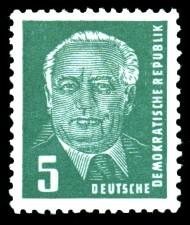5 Pf Briefmarke: Freimarke - Präsident Wilhelm Pieck
