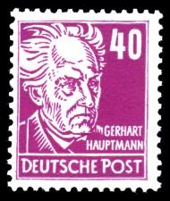 40 Pf Briefmarke: Gerhart Hauptmann, Freimarke, Persönlichkeiten aus Politik, Kunst und Wissenschaft