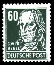 60 Pf Briefmarke: G.W.Fr.Hegel, Freimarke, Persönlichkeiten aus Politik, Kunst und Wissenschaft