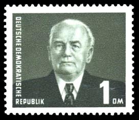 1 DM Briefmarke: Freimarke, Wilhelm Pieck