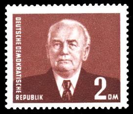 2 DM Briefmarke: Freimarke, Wilhelm Pieck