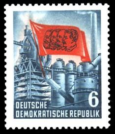 6 Pf Briefmarke: 70. Todestag von Karl Marx