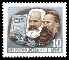 10 Pf Briefmarke: 70. Todestag von Karl Marx