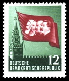 12 Pf Briefmarke: 70. Todestag von Karl Marx