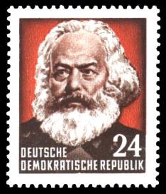 24 Pf Briefmarke: 70. Todestag von Karl Marx