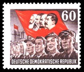 60 Pf Briefmarke: 70. Todestag von Karl Marx