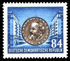 84 Pf Briefmarke: 70. Todestag von Karl Marx