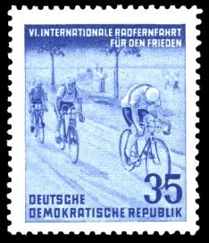 35 Pf Briefmarke: 6. Internationale Radfernfahrt für den Frieden
