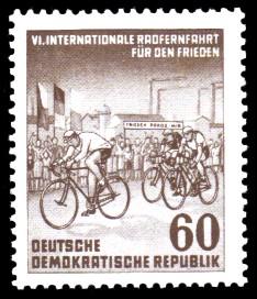 60 Pf Briefmarke: 6. Internationale Radfernfahrt für den Frieden