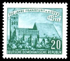20 Pf Briefmarke: 700 Jahre Frankfurt an der Oder