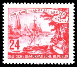 24 Pf Briefmarke: 700 Jahre Frankfurt an der Oder