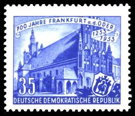 35 Pf Briefmarke: 700 Jahre Frankfurt an der Oder